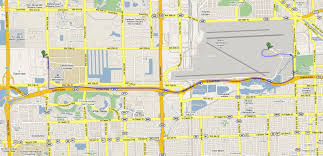 Map Of Miami International Airport by L O Trading