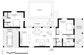 plan maison plain pied 3 chambres plan maison en l plain pied chambres 33352 klasztor co