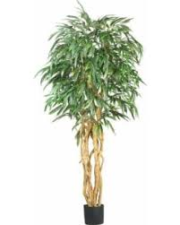 amazing deal real looking 6 weeping ficus silk tree green colors