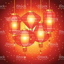 new years lanterns new year background design with lanterns stock vector