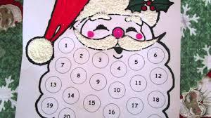25 days of christmas crafts day 7 santa advent calendar youtube