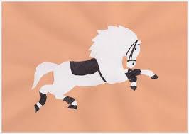 lipizzaner horse craft stencil art for an austria theme day