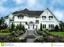 exterior of white stucco luxury house stock photo image 29607010