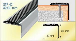 aluminium stair nosing with non slip strip tile stair nosing