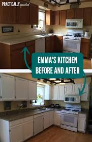 Paint Old Kitchen Cabinets Before And After From To Still Great Painted Cabinets One Year Later