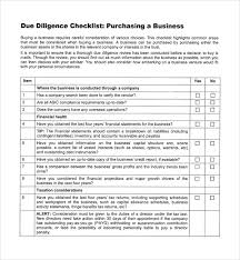 sample due diligence checklist template 8 free documents in pdf