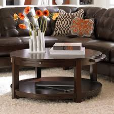 furniture elegant living room design with dark wood round coffee