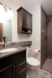 Above Toilet Cabinet Narrow Counter Over Toilet Tank Small Guest Bathroom Remodel