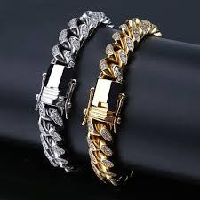 cuban chain link bracelet images 10mm miami cuban link bracelet white gold bijouterie gonin jpg