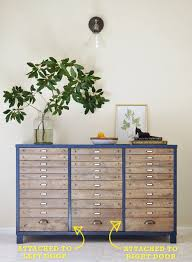File Dividers For Filing Cabinet The Painted Hive Easy Diy Faux Multi Drawer Cabinet Hack U2026using