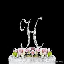party supplies monogram letter h initial wedding cake topper