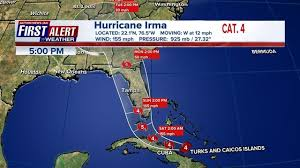 hurricane irma storm still category 4 jacksonville in path