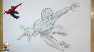 draw spider man pencil