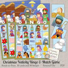 printable christmas bingo cards pictures nativity christmas bingo game bingo printable holiday bingo