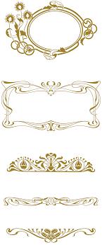 vintage nouveau nouveau 285 vector ornaments