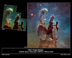hubble revisits iconic u0027pillars of creation u0027 in hd nasa