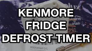 kenmore refrigerator defrost timer replacement youtube