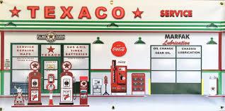 texaco vintage gas station scene wall mural sign banner shop texaco vintage gas station scene wall mural sign banner shop garage art 2 x 4