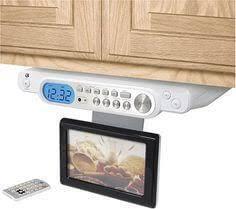 Kitchen Cd Player Under Cabinet by Under Cabinet Radio Am Fm Bluetooth Cd Player U0026 Clock