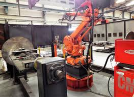 preliminary announcement abb robotic mig welding cell featuring