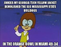 jinkies my georgia tech yellow jacket demolished the sec