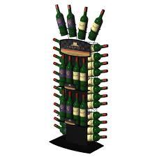 floor retail wine display stand wine rack display stand metal