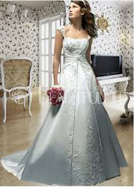 princess linie herzausschnitt bodenlang spitze tull gewebte elastische satin brautkleid mit applikationen spitze scharpe band ruschen p951 silver wedding dress weddings bodas y