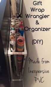 diy project to organize gift wrap wrapping paper storage