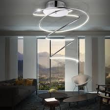 Wohnzimmer Und Esszimmer Lampen Moderne Led Deckenleuchte Aus Acryl Und Chrom Rebel Lampen U0026 Möbel