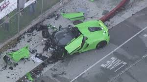 p1 crash mclaren totaled in multivehicle crash in woodland hills 2