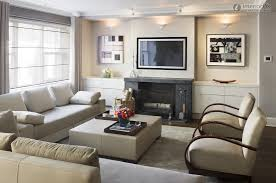mid century small living room designs using white fabric sofas and