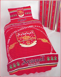 arsenal afc gunners old crest vintage retro design single bed