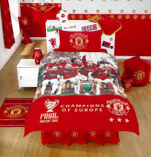 Arsenal Duvet Covers Manchester United Fc Champions Of Europe Single Bed Duvet Set