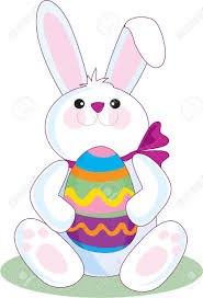 big easter bunny the easter bunny holding a big easter egg royalty free cliparts