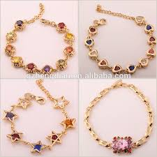 gold bracelet pendant images Cheap wholesale china fake gold plated crystal cz stud earrings jpg