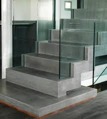 glass and amazing concrete texture minimalist stairs casa g by