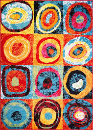 Modern Rug 8x10 Modern Multi Color Area Rug 8x10 Circles Patchwork Carpet Actual