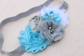 frozen headband blue headband baby white and blue headband toddler flower girl