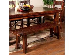 sunny designs vineyard dining bench with wood seat and metal