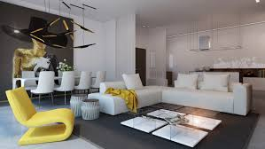 Yellow Livingroom Living Room White L Shaped Sofa With Dark Brown Rug And Modern