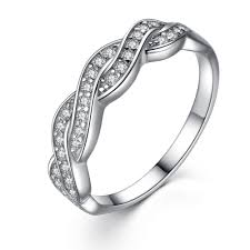 womens wedding band sterling silver cubic zirconia cut infinity women s wedding