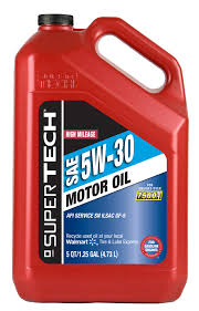 super tech high mileage 5w30 motor oil 5 qt walmart com