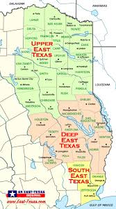 tecas map east piney woods east map east cities and