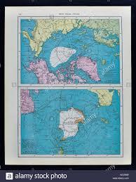 North Pole Map Mcnally Antique Map 1911 South Pole Antarctica U0026 North Pole