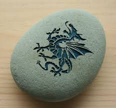 dragon home decor paperweight collections engraved stone art
