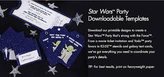 star wars birthday invitation template printable free