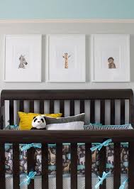 Turquoise Nursery Decor Baby Boy Nursery Decor Features Baby Animal Crib By