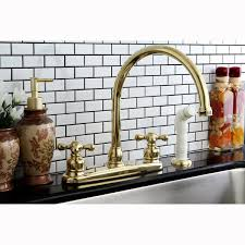 Polished Brass Kitchen Faucets by Vintage Polished Brass Kitchen Faucet With Side Sprayer Free