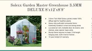 8 X 12 Greenhouse Kits Fiberglass Greenhouse Kits Youtube