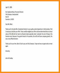 how can i write a letter declining job offer due to salary the